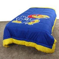 "Kansas Jayhawks 2 Sided Reversible Comforter, 100% Cotton Sateen, 86"" x 96"", Queen"