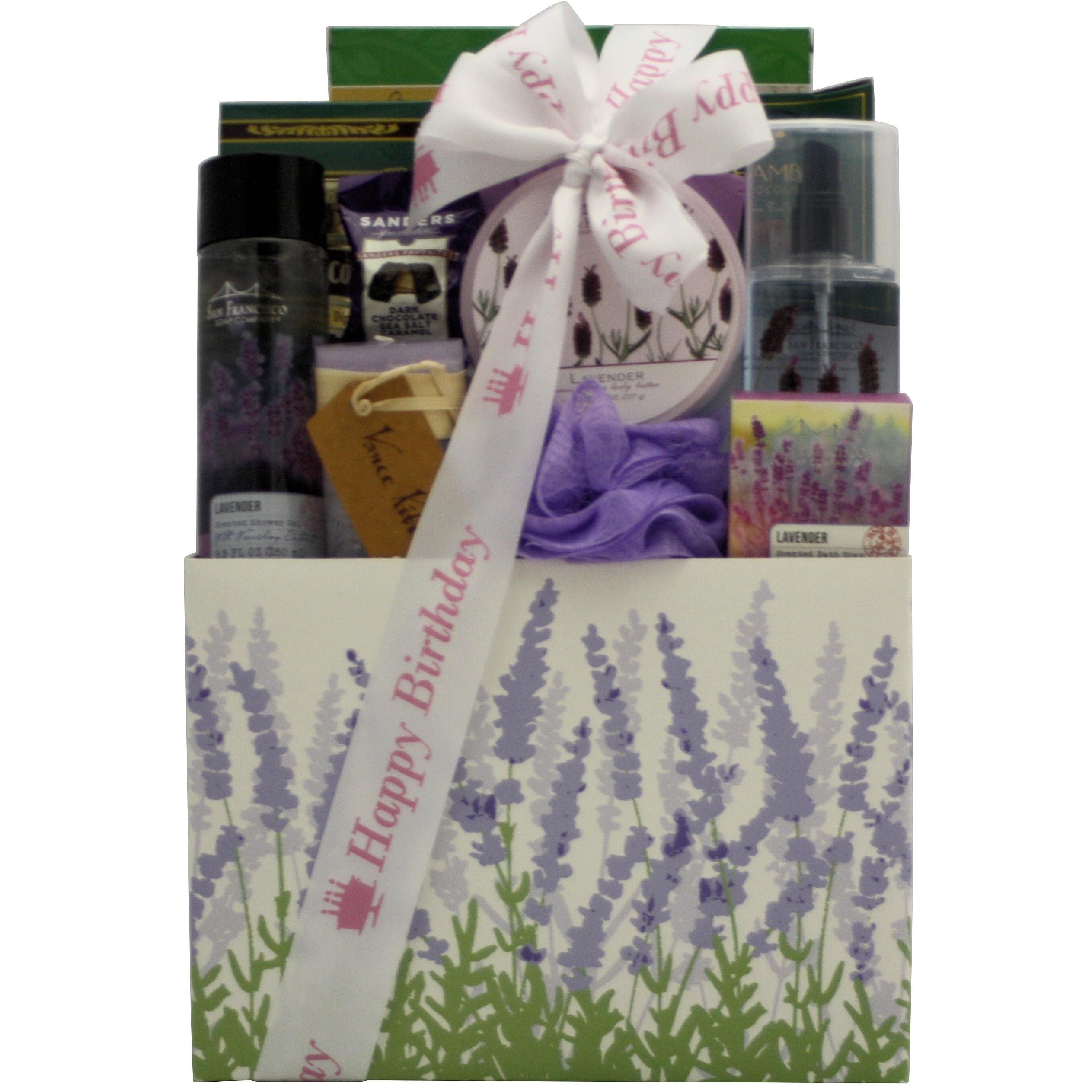 Lavender Spa Pleasures Bath Body Birthday Gift Basket