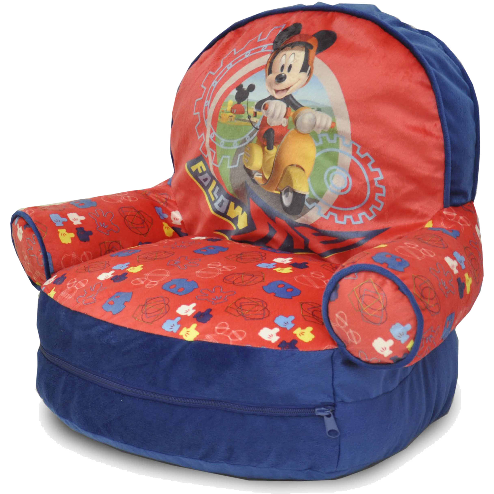 Disney Mickey Mouse Bean Bag With BONUS Slumber Bag   Walmart.com