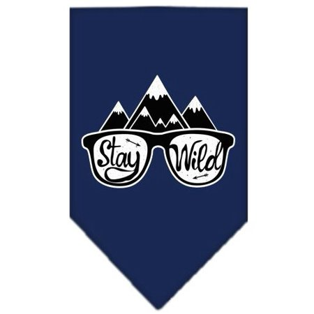 - Stay Wild Screen Print Bandana Navy Blue Small