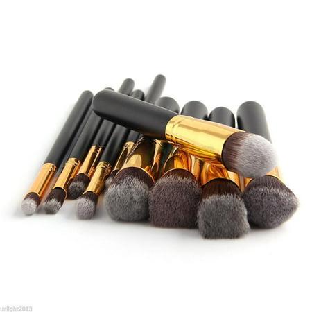 Zimtown 10Pc Makeup Brushes Tool Set Cosmetic Eyeshadow Face Powder Foundation Lip Brush - image 3 of 7