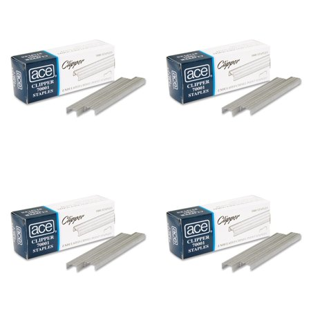 Ace Office Products 70001 Staples  Undulated  For 07020 Clipper Plier  5000 Bx  4 Packs