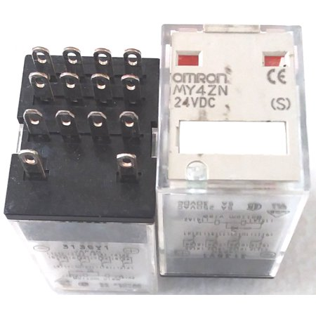 Omron MY4ZN/24 24VDCvcoil 4P 250V 14 pin plug in relay contactor