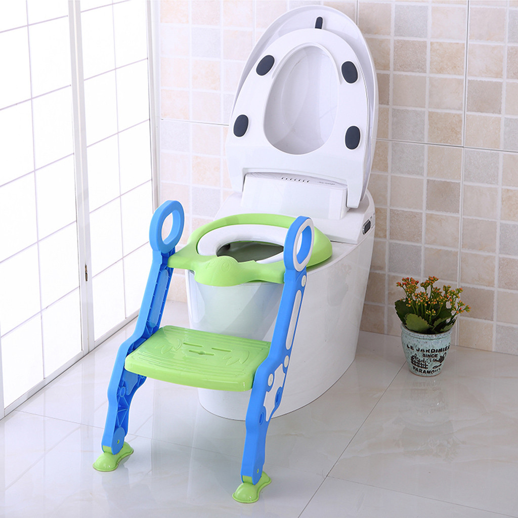 Baby Child Potty Toilet Trainer Seat Step Stool Ladder