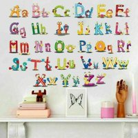 KABOER Alphabet A-Z Letters Vinyl Wall Sticker Decal Mural Kids Room Nursery Simple