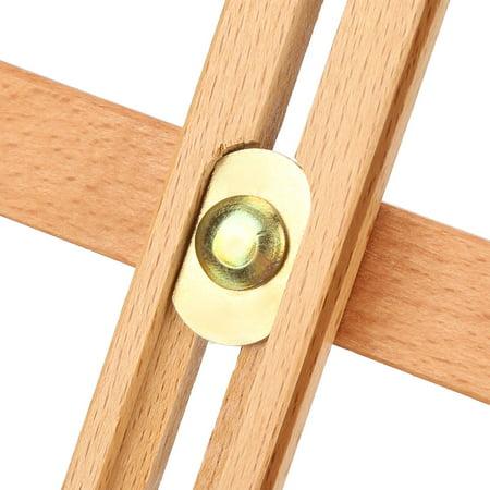 HURRISE Adjustable Height 106cm Tabletop Wood Studio H-Frame Easel Artist Painting Tool, Adjustable Easel, Wood Easel - image 10 of 12