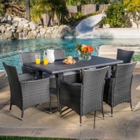 Christopher Knight Home Outdoor Malta 7-piece PE Wicker Dining Set with Cushions by