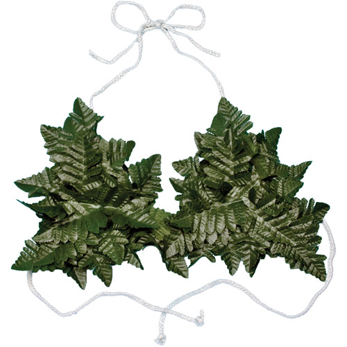 Fern Bikini Top Adult Halloween Accessory