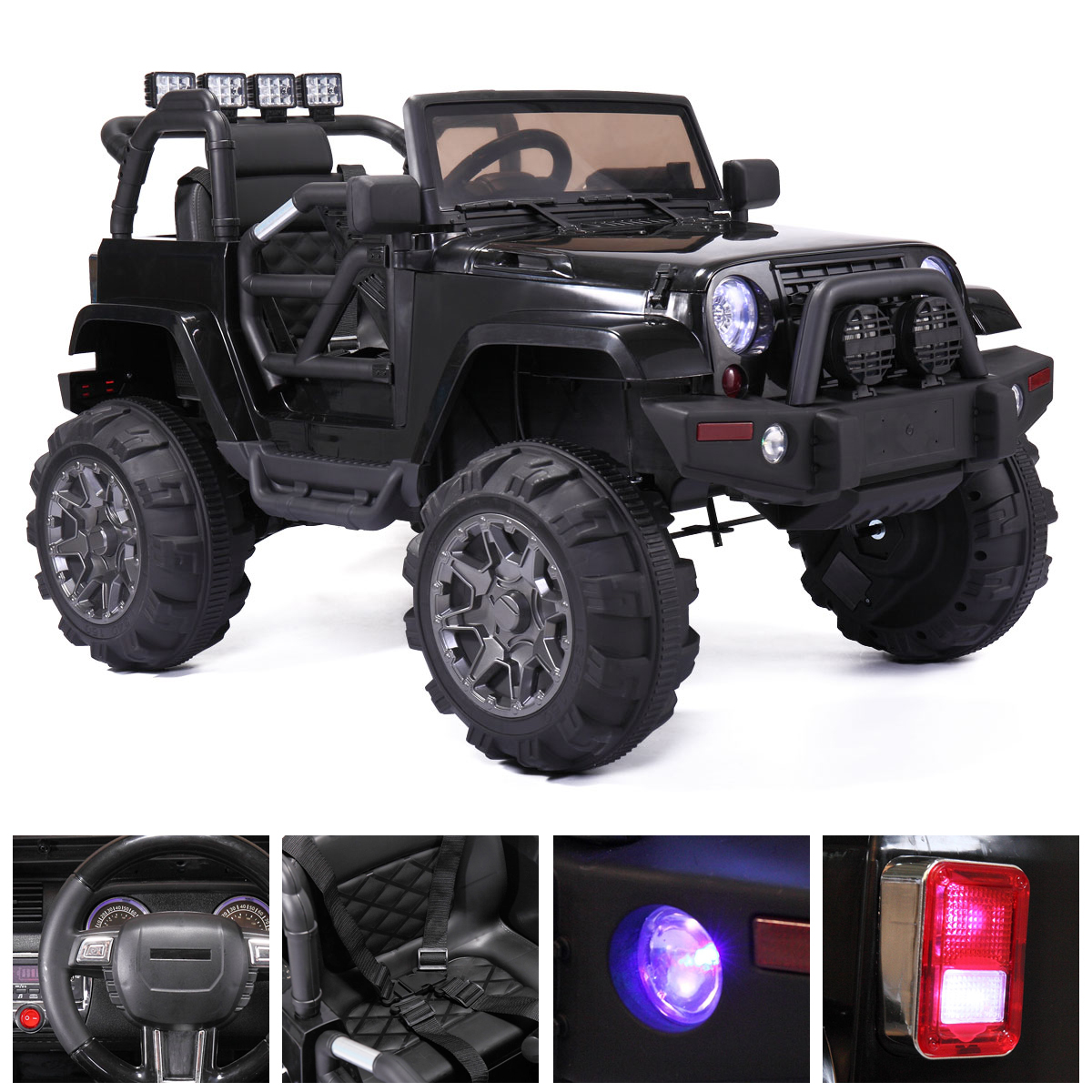 12V Ride On Car Kids W  MP3 Electric Battery Power RC Remote Control Black by Jaxpety