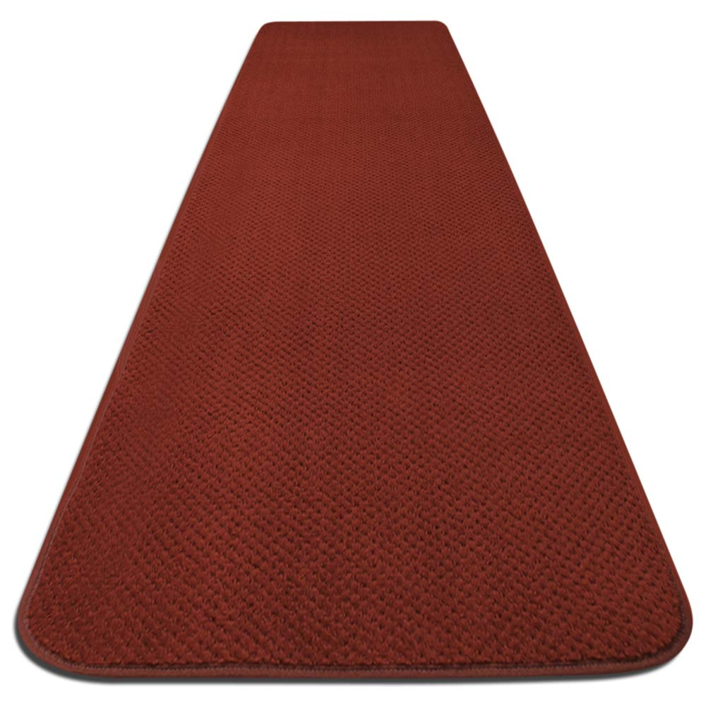 Skid-resistant Carpet Runner - Brick Red - 6 Ft. X 27 In. - Many Other Sizes to Choose From