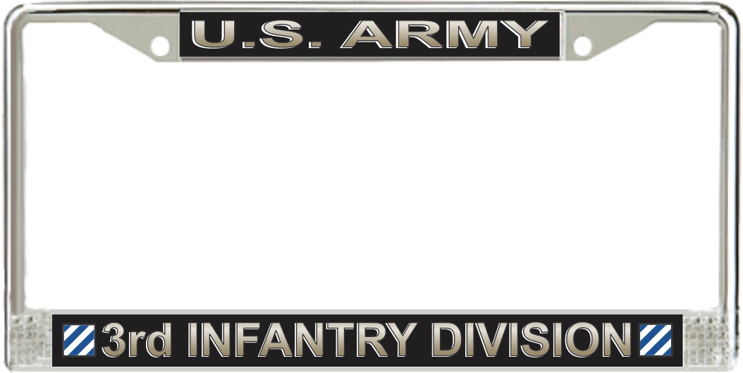 Aluminum License Plate 1st Armored Division US Army