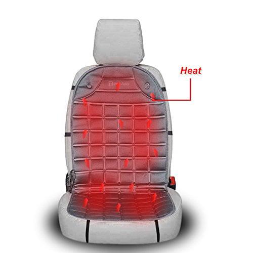 Zento Deals 12V Gray Warm Cushion Heated Car Seat Cover
