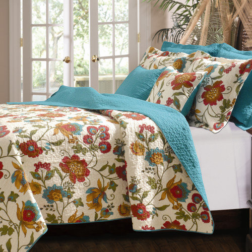 Bundle-21 Greenland Home Fashions Clearwater Quilt Set (2 Pieces)