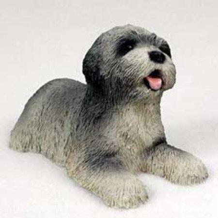 PDF10A CON Lhasa Apso Gray Puppy Figurine