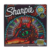 Sharpie 30 Count Special Collectors Edition Permanent Markers and Dragon Coloring Pages