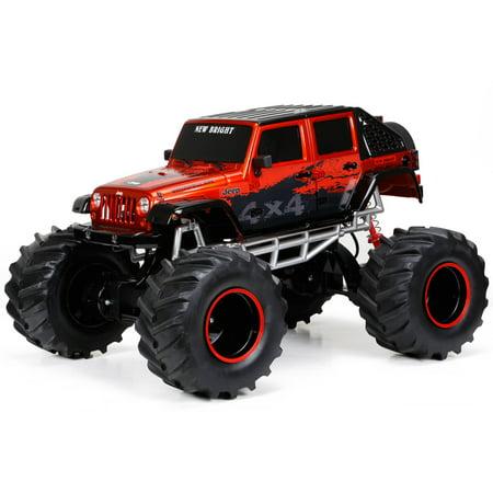 New Bright 1:8 Radio Control Jeep, Orange