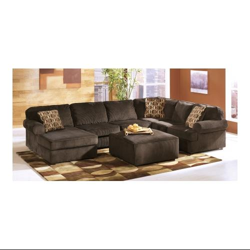 Ashley Vista LKIT2PC 2 Piece Living Room Set with Left Chaise Sectional Sofa and Ottoman in