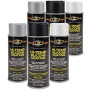 HT Silicone Coating Assortment Case - Black - Aluminum - White - (2 cans each)