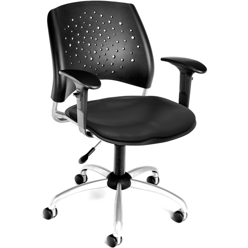 OFM Star Swivel Vinyl Chair with Arms