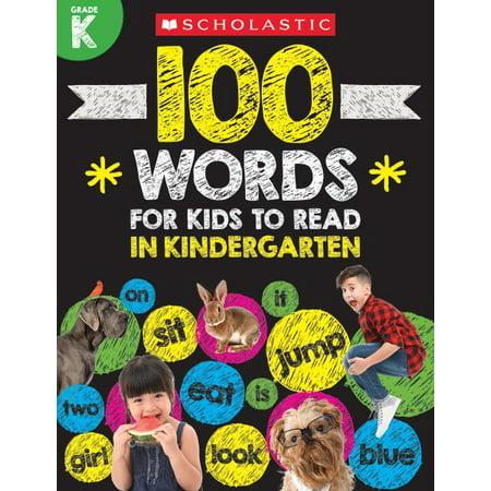 100 WORDS GR K WK - Halloween Printables For Kindergarten