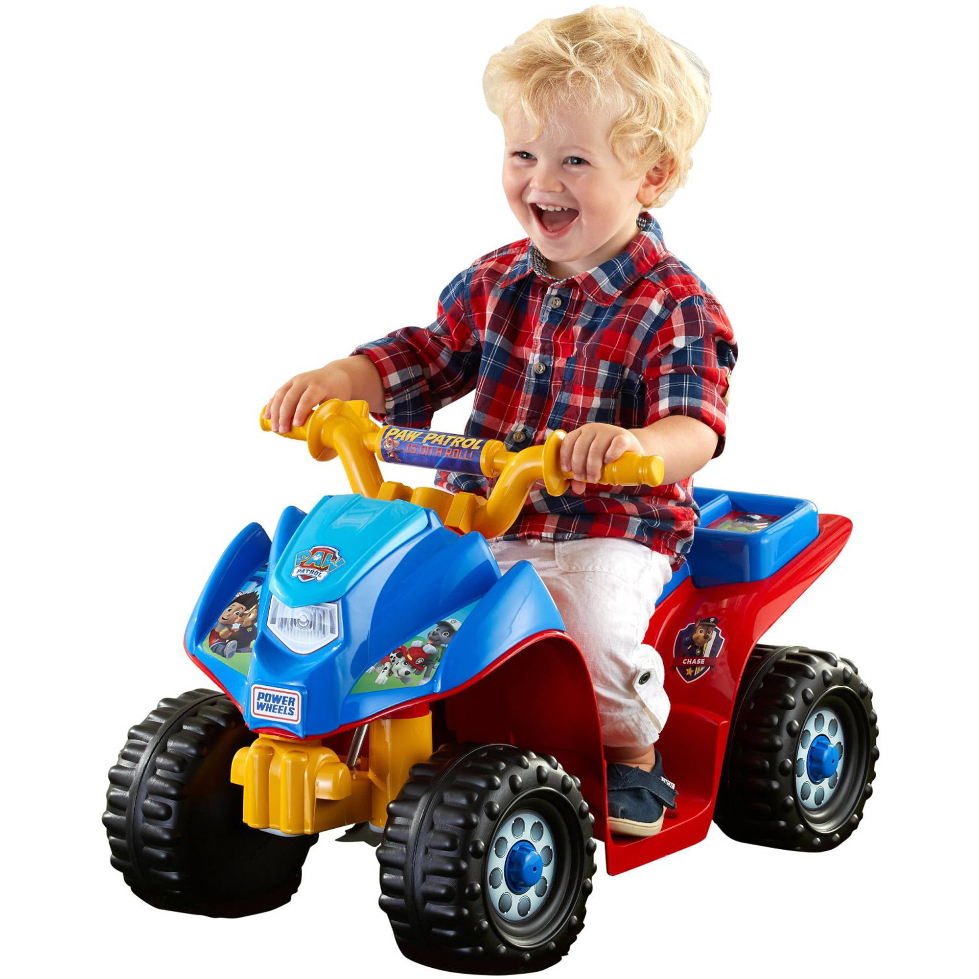 Kid Trax 6V Fire Rescue Quad Ride Walmart