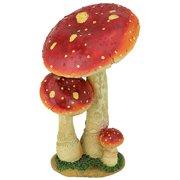 Design Toscano Mystic Forest Mushroom Statue: Red