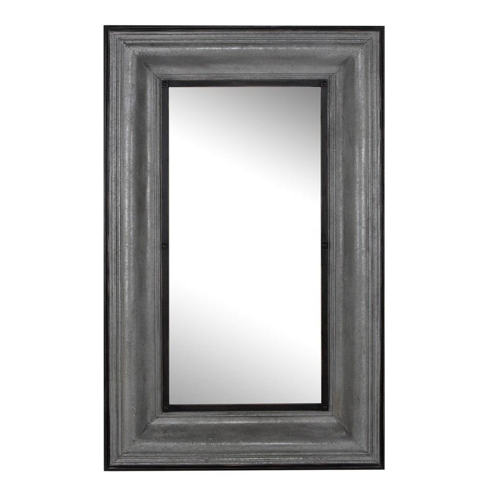 Elegantly Charmed Rectangular Mirror, Gray by Benzara