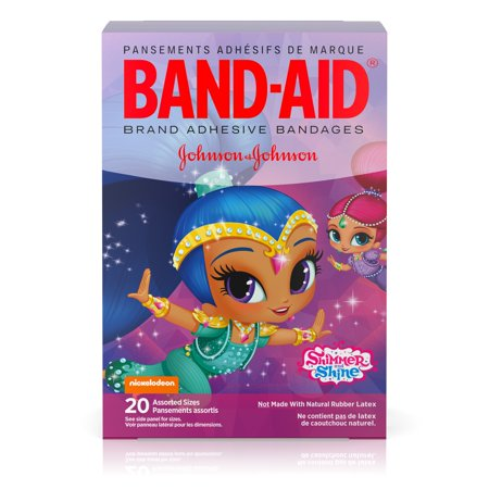 Monkey Band Aid - Band-Aid Bandages, Nickelodeon Shimmer and Shine, Assorted Sizes 20 ct