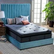 Belham Living 16-Inch Gel Memory Foam Individually Encased Innerspring Euro Pillow Top Mattress