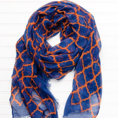 Geometric Game Day Scarf , 40 x 70, 100% Polyester, Multiple (Polyester Scarf)