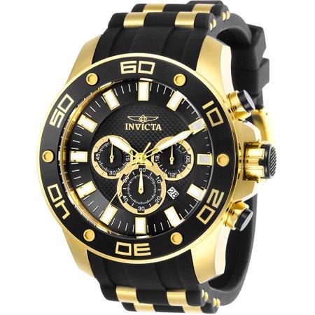 Black Diver Wrist Watch (Men's 26086 Pro Diver Quartz Chronograph Black Dial Watch )
