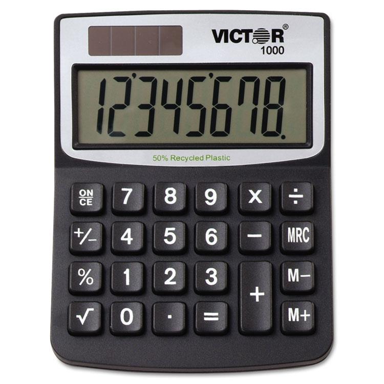 Victor Technology Solar/Battery Minidesk Calculator, 8-Digit Display