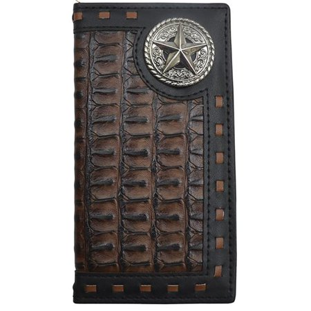 3D Belt DW0104 Kids Black & Brown Rodeo Croc Print Case, Black & Brown - 5.25 x 2.62 in.
