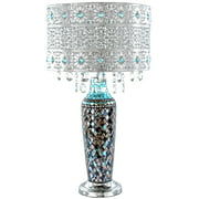 River of Goods Gracie's Crystal Table Lamp- Turquoise