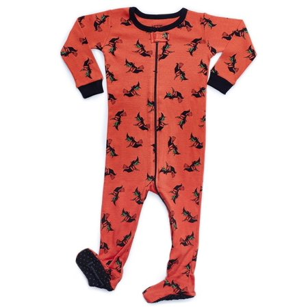 Leveret Witch Footed Pajama Sleeper 100% Cotton 4 Years - Witch Robe