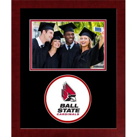 Campus Images IN985SLPFH 11.62 x 9.62 in. Ball State Cardinals Spirit Horizontal 4 x 6 in. Photo Satin Mahogany Frame - image 1 de 1