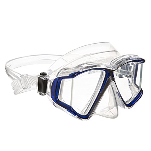 Snorkel Mask Diving Mask Panoramic Lens Frameless diving mask Perfect for Scuba Diving, Snorkeling, Swimming Ivation by Ivation