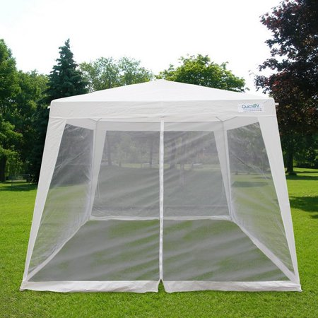 - Quictent Outdoor Canopy Gazebo Party Wedding tent Screen House Sun Shade Shelter with Fully Enclosed Mesh Side Wall (10'x10'/7.9'x7.9', White)