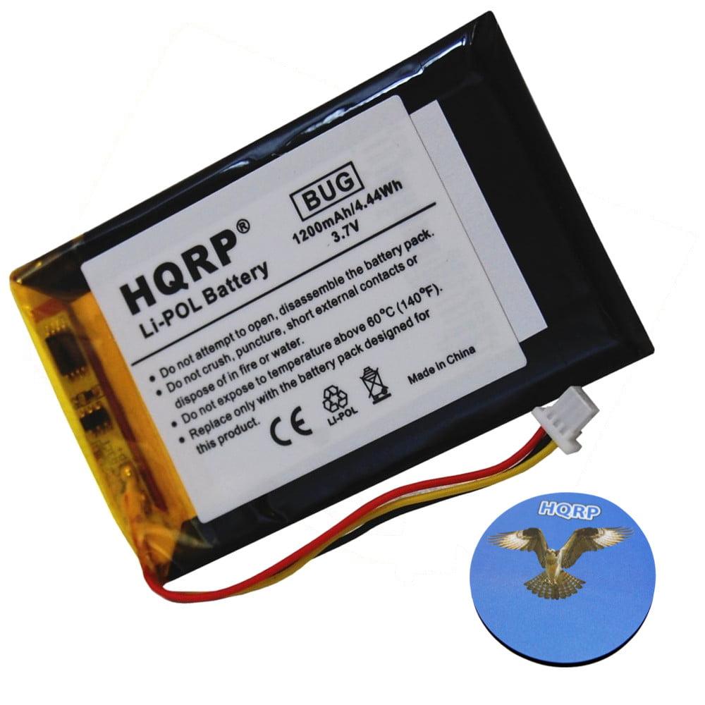 HQRP 1200mAh Battery for GARMIN 361-00019-14 Nuvi 1690 1690T / Nuvi 252w / 265w GPS Navigator + HQRP Coaster