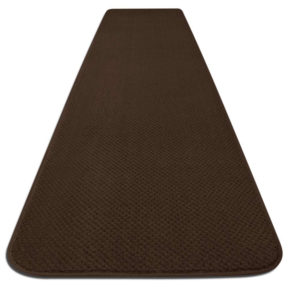 Skid Resistant Carpet Runner Chocolate Brown 6 Ft X