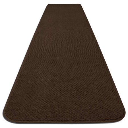 Skid Resistant Carpet Runner Chocolate Brown 6 Ft X