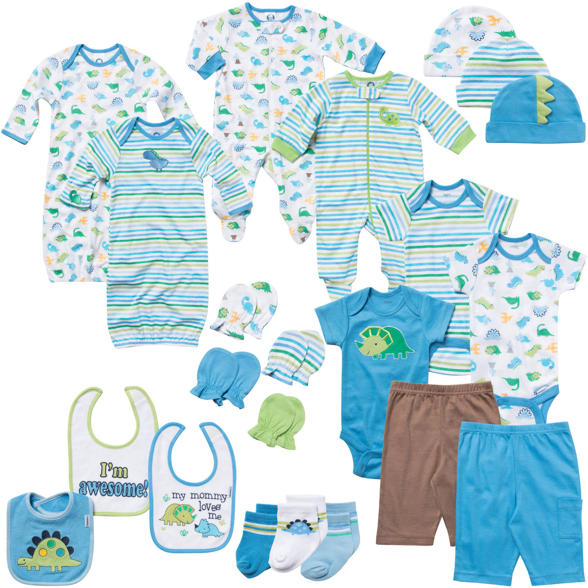 Gerber Newborn Baby Boy 22 Piece Blue La