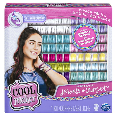 Online Invitations Maker (Cool Maker, KumiKreator Sunset and Jewels Fashion Pack 2-Pack Refill, Friendship Bracelet and Necklace Activity)