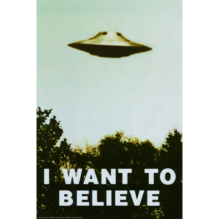 The X-Files - I Want To Believe Print Poster - - Halloween Wanted Poster