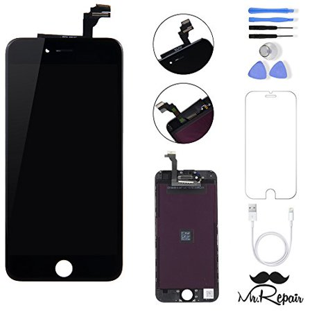 promo code b7af9 9b50d Black iphone 6 LCD Display Touch Screen Digitizer Assembly Screen  replacement full set with tools Mr Repair Parts Free Charger Cable Included