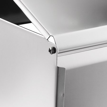 Uxcell 235mmx90mmx200mm Stainless Steel Glossy Wall-Mount Flip-up Paper Holder w Cover - image 4 of 6