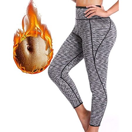 6f0af34d21 sexywg women hot thermo slimming sweat sauna pants neoprene yoga legging  shaper for weight loss - Walmart.com
