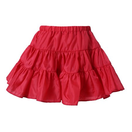 Richie House Little Girls Red Lightweight Ruffled Skirt 3](Girls Red Skort)