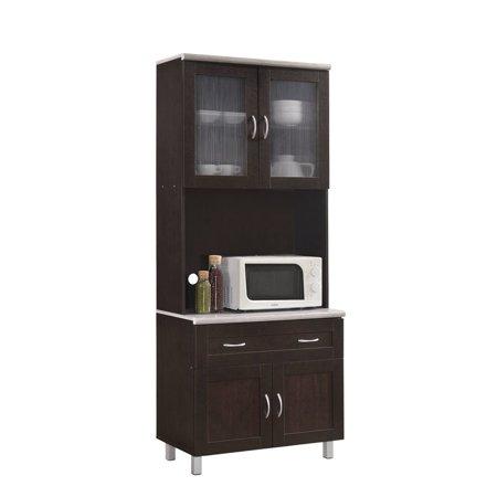 Hodedah Imports HIK92 Kitchen Cabinet