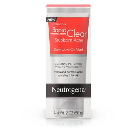 Neutrogena Rapid Clear Benzoyl Peroxide Leave-on Acne Face Mask, 2 oz Dreaded One Mask